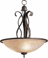 Kichler 2671OI High Country Olde Iron 3-Light 30 inch Country Inverted Pendant