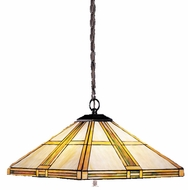 Kichler 65069 Tiffany Art Glass Creations 3 Light Pendant in Dore Bronze