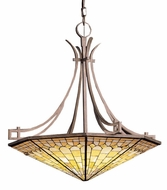 Kichler 65163 Tiffany Art Glass Creations Pompeian Mosaics 6 Light 24 Inch Pendant fixture