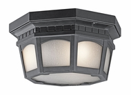 Kichler 9538BK Weatherly Flush Mount Black Outdoor Ceiling Light Fixture