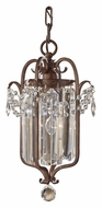 Feiss F2474/1MBZ Gianna Scuro 7 Inch Diameter Mocha Bronze Drop Lighting Fixture