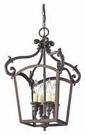 Feiss F2801/4ORB Luminary 4 Candle Oil Rubbed Bronze Traditional Pendant Lighting