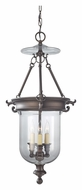 Feiss F2802/3ORB Luminary 15 Inch Diameter Glass Pendant Light Fixture - Oil Rubbed Bronze