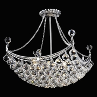 Elegant 9800D20C-RC Corona 20  Height Chrome Traditional Crystal Lighting Pendant