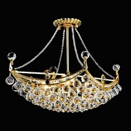 Elegant 9800D24G-RC Corona Gold Crystal Hanging Pendant Light
