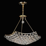 Elegant 9802D26G-RC Corona 12 Light Gold Traditional Crystal Hanging Pendant Lighting