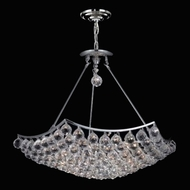 Elegant 9802D26C-RC Corona Chrome Classic Crystal Drop Lighting