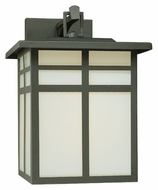 Thomas SL90077 Mission Black Finish 12 Inch Tall Craftsman Outdoor Wall Lamp