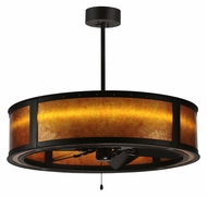 Meyda Tiffany 114822 Smythe Craftsman LED Chandel-Air Oil Rubbed Bronze Chandelier Ceiling Fan