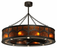 Meyda Tiffany 114414 Mission Hill Top Chandel-Air Oil Rubbed Bronze Ceiling Fan Chandelier Light