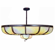 Meyda Tiffany 110003 Plain Dome Chandel-Air Mahogany Bronze 44 Inch Diameter Iridescent Glass Chandelier