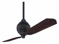 Hunter 18865 Limited Edition 2 Blade Antique Style Home Ceiling Fan - Midas Black