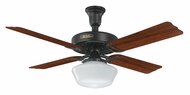 Hunter 23702 Hotel Original Adaptair 52 Inch Span Satin Black Ceiling Fan Light Fixture