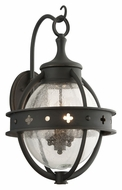 Troy B3683 Mendocino Large 23 Inch Tall Forged Black Outdoor Wall Light Sconce
