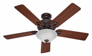 Hunter 53048 Kensington 52 Inch Span New Bronze Ceiling Fan Light Kit