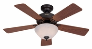 Hunter 51014 Kensington 42 Inch Span New Bronze Finish Ceiling Fan Light Fixture