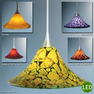 Bruck Bella LED Art Glass Pendant