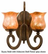 Kalco 3274 Santa Barbara 2-Lamp Glass Wall Sconce