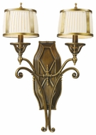 ELK 11050-2 Williamsport Two Lamp Wall Sconce with Fabric Shades