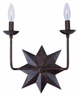 Crystorama 9232-EB Astro Contemporary 2 Candle English Bronze Vanity Lighting - 13 Inches Wide