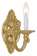 Crystorama 9111-PB Arlington 9 Inch Tall Polished Brass Candle Traditional Wall Lighting