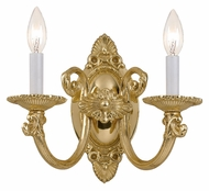 Crystorama 9112-PB Arlington Polished Brass Finish 11 Inch Wide 2 Candle Light Sconce