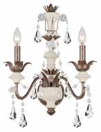 Crystorama 9252-EB Malibu English Bronze Finish 2 Candle 20 Inch Tall Light Sconce
