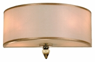 Crystorama 9502-AB Luxo 12 Inch Wide Antique Brass Wall Sconce With Gold Silk Shade