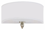 Crystorama 9502-SN Luxo Satin Nickel Finish Transitional 12 Inch Wide Wall Light With Silver Silk Shade