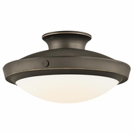 Kichler 42135OZ Fremont Olde Bronze Medium Duo-mount Drop Lighting/Semi-flush Mount Overhead Lighting