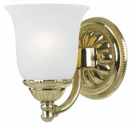 Crystorama 681-PB Chesapeake 7 Inch Tall Polished Brass Traditional Lamp Sconce