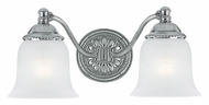 Crystorama 682-CH Chesapeake Chrome Finish 14 Inch Wide 2 Lamp Bathroom Sconce Light