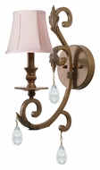 Crystorama 6901-FB-CL-MWP Royal Florentine Bronze 18 Inch Tall Traditional Wall Lighting Sconce - Clear Crystal