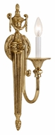 Crystorama 7001-OB Arlington Olde Brass Finish 20 Inch Tall Candle Sconce - Traditional