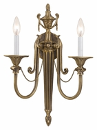 Crystorama 7002-RB Arlington 2 Candle Roman Bronze Finish Traditional Wall Lighting Fixture