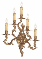 Crystorama 705-OB Oxford Olde Brass Finish Antique 21 Inch Tall 5 Candle Lighting Sconce