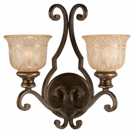 Crystorama 7402-BU Norwalk Bronze Umber 2 Lamp Traditional Lamp Sconce