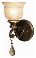 Crystorama 7501-BU-GT-MWP Norwalk Traditional Golden Teak Crystal Bronze Umber Wall Sconce