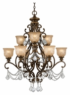 Crystorama 7509-BU-CL-MWP Norwalk Medium 9 Lamp Bronze Umber Clear Crystal Traditional Chandelier Lamp