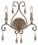 Crystorama 7522-DT Shelby Traditional 18 Inch Tall Distressed Twilight 2 Candle Sconce Lighting