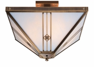 Arroyo Craftsman UIH-11 Utopian Craftsman Semi-Flush Ceiling Light - 11 inches wide