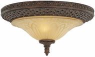 Feiss FM169-PAL Casbah Traditional 2-light 15 inch Flushmount Fixture in Palladio