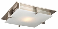 PLC 908-SN Polipo 16 inches wide Ceiling Light in Satin Nickel