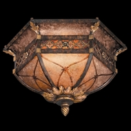 Fine Art Lamps 182145 Villa 1919 Traditional Flush Mount Wrought Iron Ceiling Light