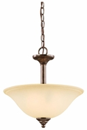 Kichler 3694CST Langford Traditional Duo-Mount Semi Flush Ceiling Lighting/Hanging Pendant Lamp