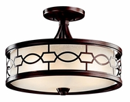 Kichler 42051MIZ Punctuation Convertible Chain Drop Pendant Light/Semi-flush Mount Ceiling Light