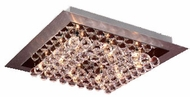 PLC 72114-AL_PC Petula Contemporary Crystal Flush-Mount Ceiling Fixture - 16 inches wide