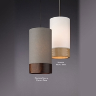 Tech Topo Contemporary 9 Inch Tall Cylinder Hanging Pendant Lighting - Low Voltage