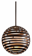 Corbett 138-42 Tango Small 18 Inch Diameter Bronze LED Hanging Pendant Light