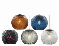 LBL HS546 Mini-Rock Candy Round Hand-blown Mini Pendant Light